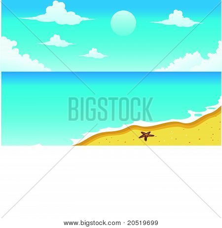 Seascape Illustration Vector
