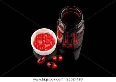 Red Vitamin Pills