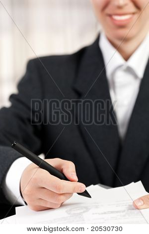 Pen Writing Business Document