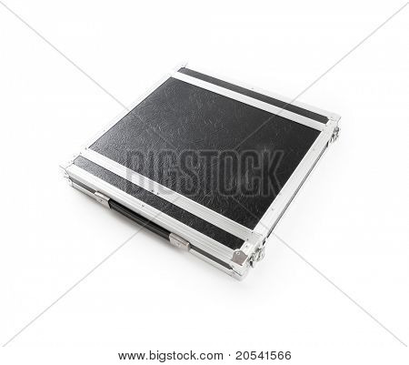 19 inch rack mount equipment case, isolated on white. A standardized  equipment mount used in the audio, music and broadcast industry.