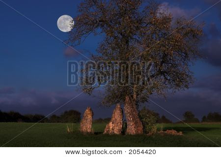 Menhirs At Night
