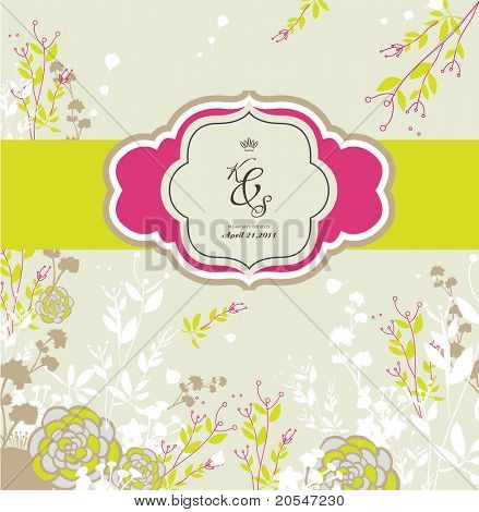season seamless floral background- best for card design- wedding invitation card