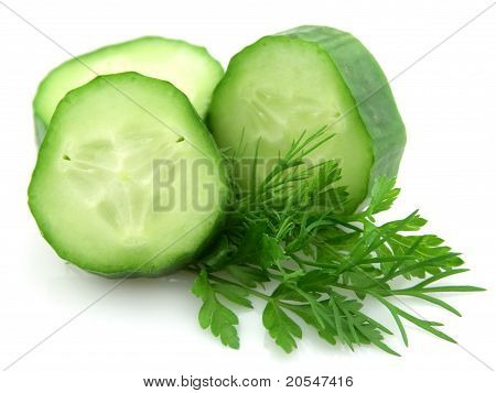 Cucumber With Greens