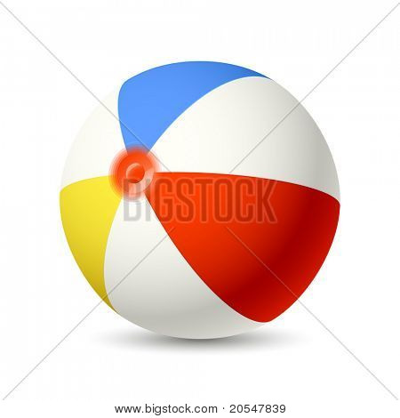Beach Ball. Vector.