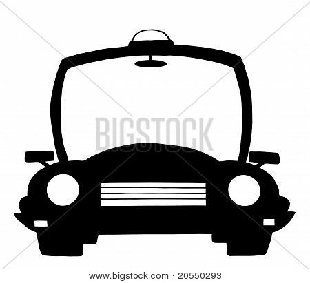 Cartoon Silhouette Polizeiauto