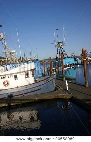 Fishing Boats At Anchor