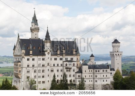 Castle In German Alps