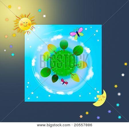 Kind planet illustration