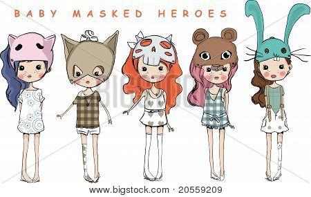 cartoon animal child