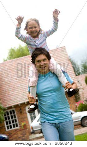 Vater und Tochter Spaß