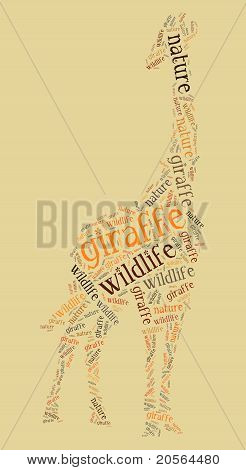 Wordcloud of giraffe