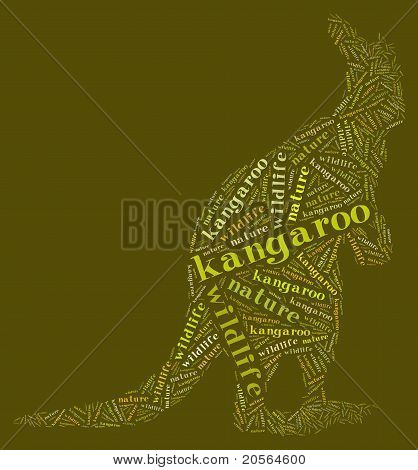 Wordcloud of kangaroo