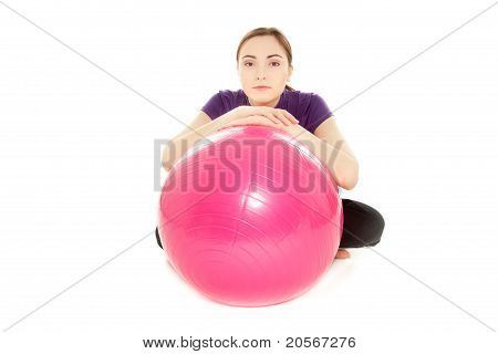 Woman With Gymnastics Ball