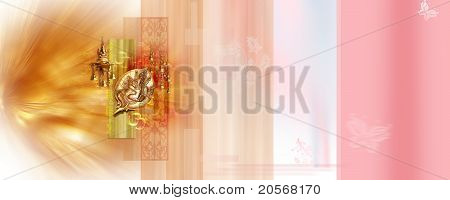 Large Background with Lord Ganesha