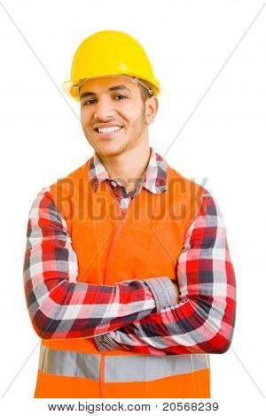 Construction Worker With Arms Crossed