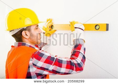 Worker With Air Level
