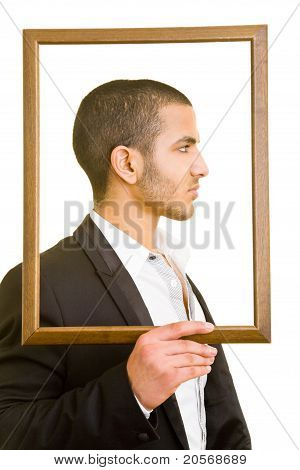 Manager With Empty Frame