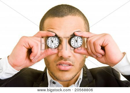 Manager With Watches As Eyes