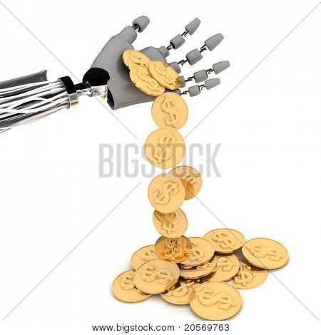 hand of robot with chinks