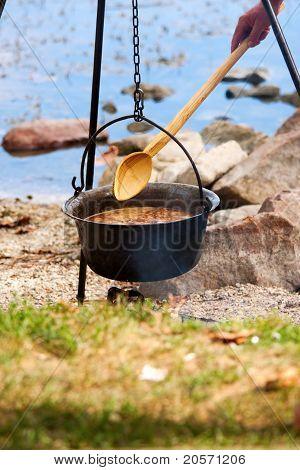 Hungarian fish soup
