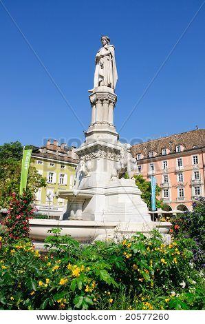 Statue of Walther von der Vogelweide - Bolzano/Bozen, South Tyrol, Italy