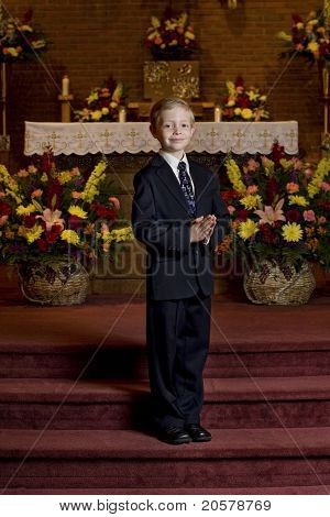 On His First Communion Day