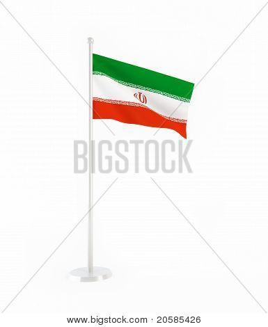 3D bandera de Irán