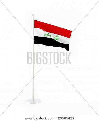 3D flag of Iraq