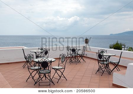 View from the terrace of restaurant