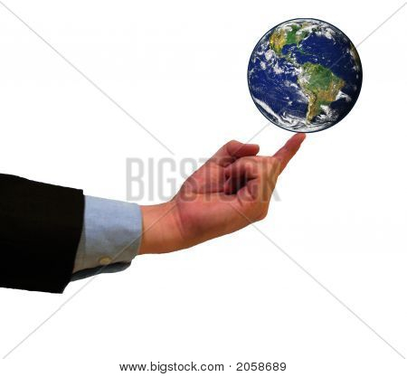 Earth On Finger