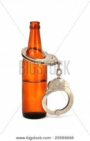 Handcuffs And Bottle