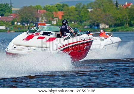 Speedboats In Action