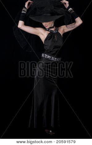 High Fashion Model In Evening Wear