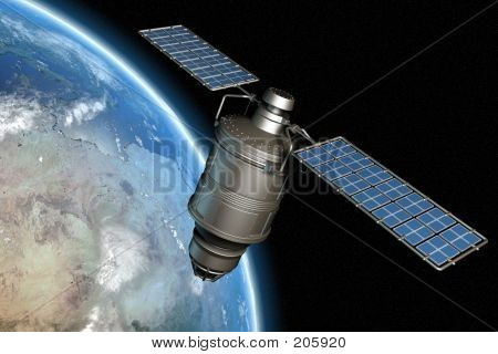 Satellite And Earth 3