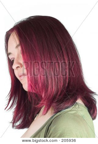 Pretty Woman With Couloured Hair