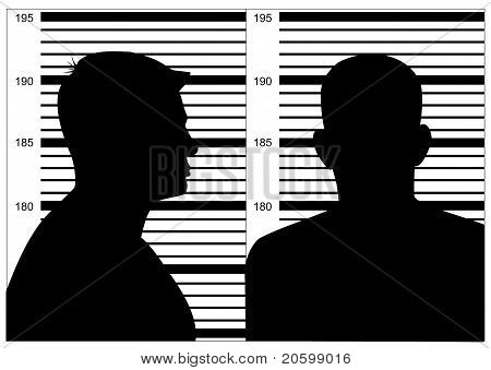 Black Mug Shot On White Background