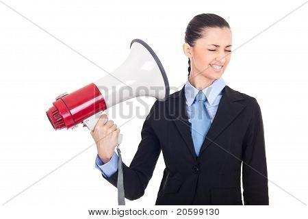 Boss Shouting Through Loud Speaker