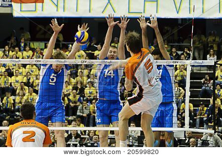 Cev Volley Champions League 2010/2011 Final Four - Jastrzebski Wegiel Vs Dinamo Moscow