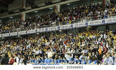 Cev Volley Champions League 2010/2011 - Final Four - The Crowd Celebrating The Winning Team