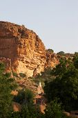 picture of dogon  - A rock overlooking Dogon tribe village Songo in Mali - JPG