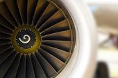 pic of rotor plane  - Turbine of airplane closeup - JPG