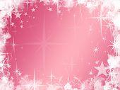 Grunge Pink Star Background