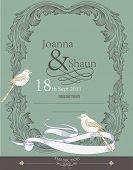 Постер, плакат: Дизайн марочных свадебное приглашение карта