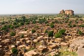 foto of dogon  - A panorama of Dogon tribe village Songo in Mali - JPG