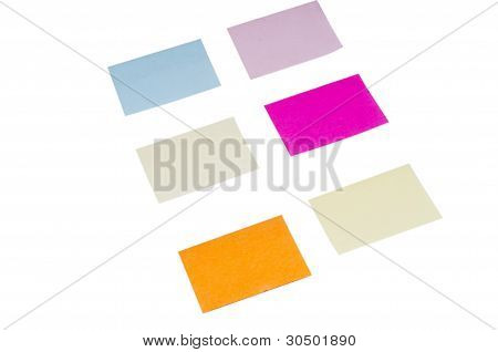 Colorful Postit paper
