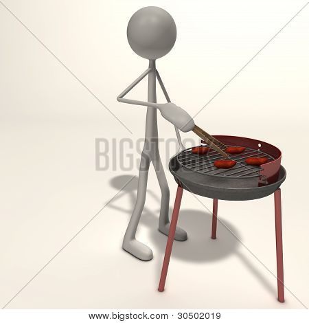 Figure Has A Barbecue
