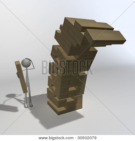 Figure Playing Jenga 02