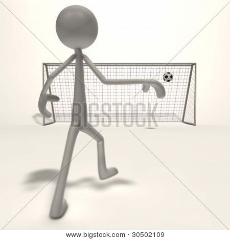 Figure Shoots For Goal