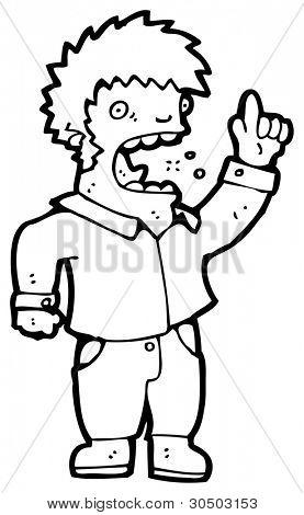obnoxious man cartoon