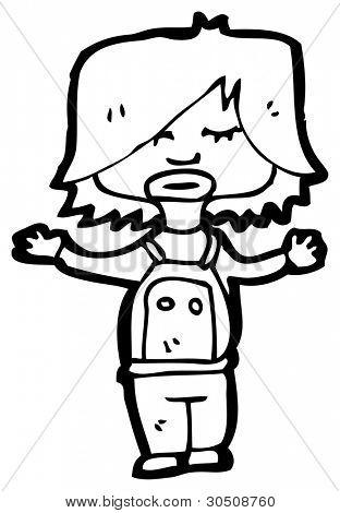 boy in dungarees cartoon